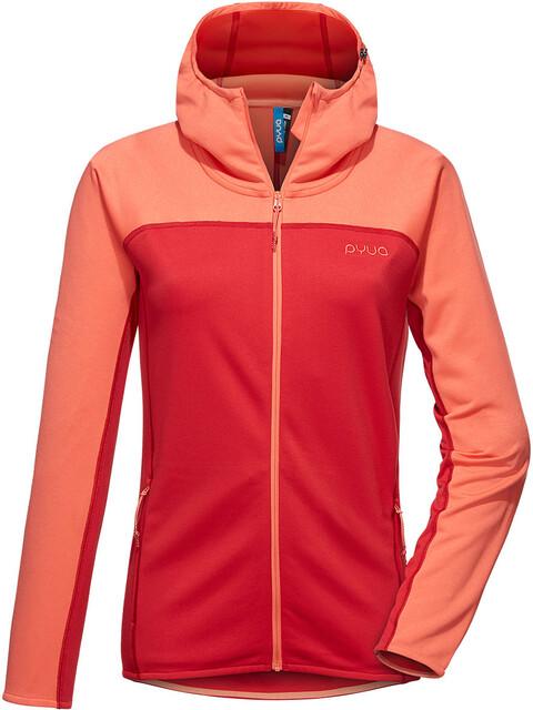 PYUA Crest S Hooded Zipper Women grapefruit/jester red